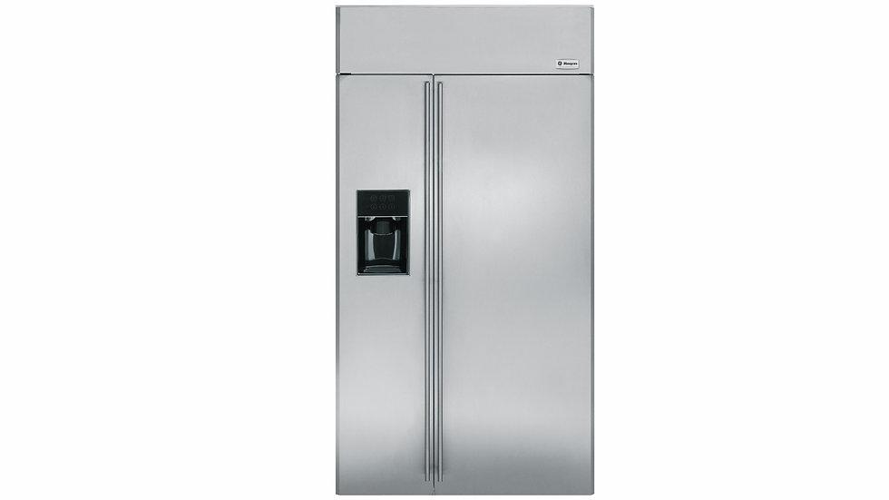 美國 GE奇異 MONOGRAM 42吋崁入式對開門冰箱 |  ZISS420D | 皇室旗艦款全機不繡鋼製冰機系列