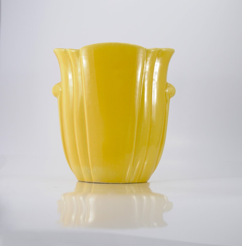 Im A Tall Yellow Bauer Cal Arts Vase
