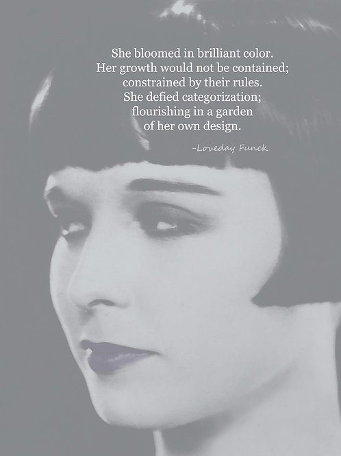 Flapper flowers as Louise Brooks poetry muse