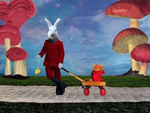 White Rabbit takes the King of Hearts for a Walk