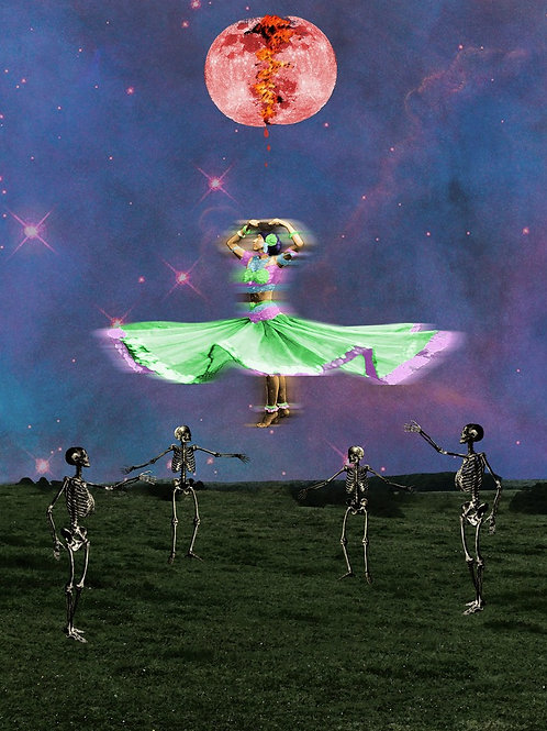 Dancing Skeletons under a Bleeding Moon