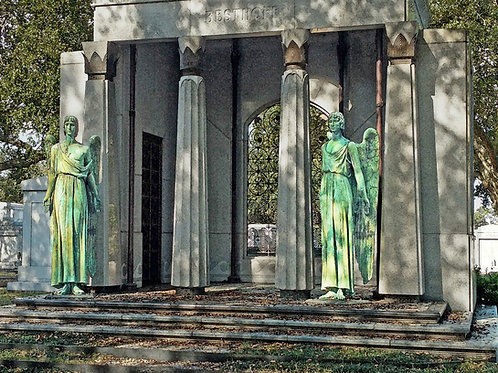 Warrior Angels guard the Dead of New Orleans