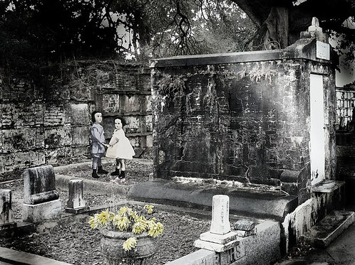 Creepy Victorian Ghost Dolls in Cemetery in New Orleans