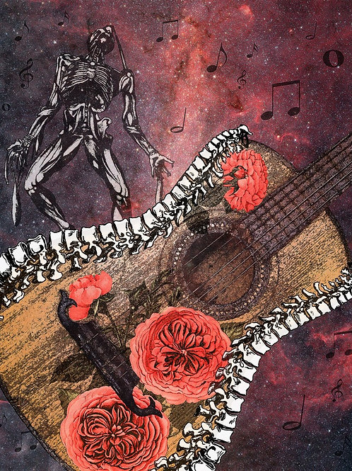Spinal Cord Guitar and Tattoo Roses