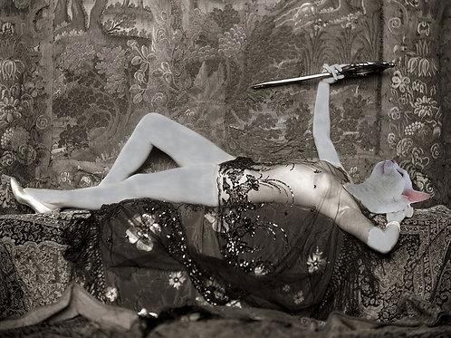 White Cat as Ziegfeld Follies Pin Up Girl