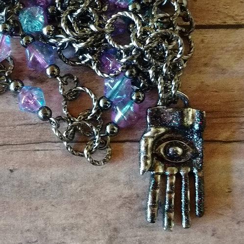 HAND of FATIMA Evil Eye Hamsa Necklace