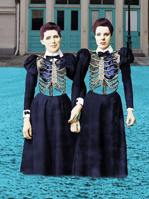 Blue Blood Victorian Sisters in the flood of the French Quarter