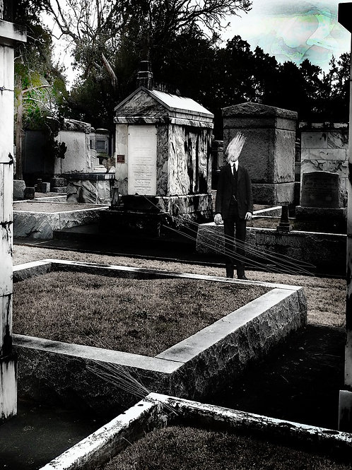 Haunted Victorian Portrait in New Orleans Cemetery