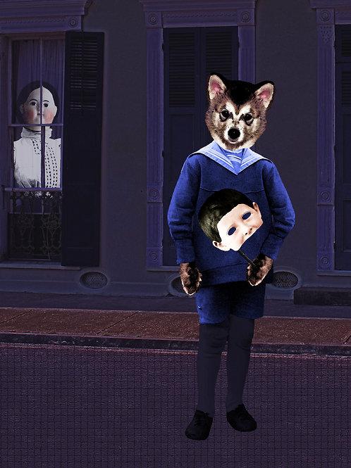 Portrait Anthro Art New Orleans Werewolf wolf cub
