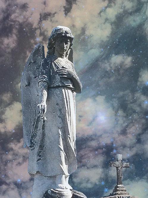 Stone Angel under a Supernatural Louisiana Sky