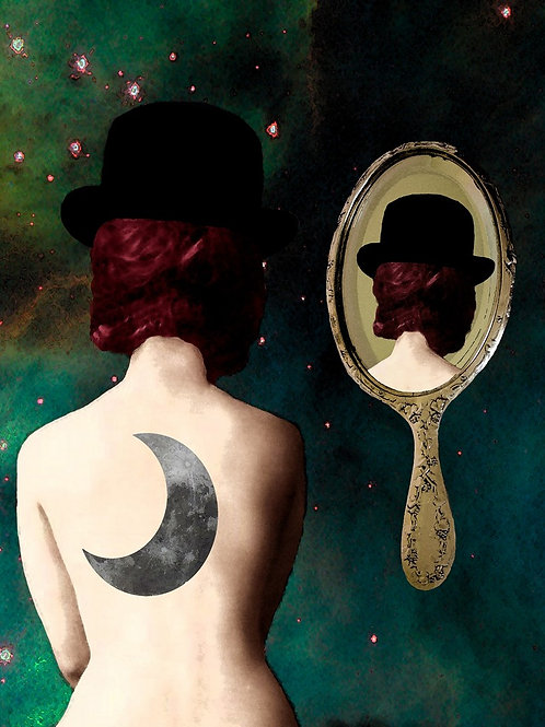 Magritte Surrealism homage in Reflections of Rene
