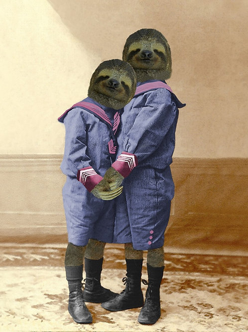 Sloth Boys in Sailor Suits Custom brothers