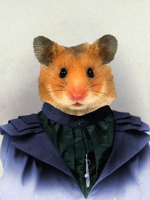 Victorian pet Hamster as fashion art