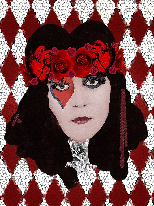 The Red Queen meets Theda Bara the Vamp