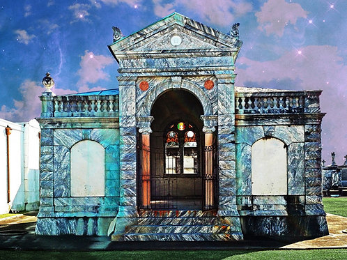 Surreal Stained Glass Mausoleum of New Orleans