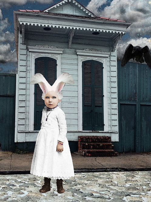 Alice's White Rabbit in French Quarter Wonderland