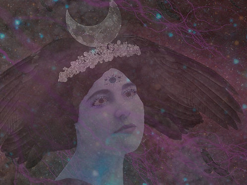 Hecate, Witch Goddess, Crowned with Darkness