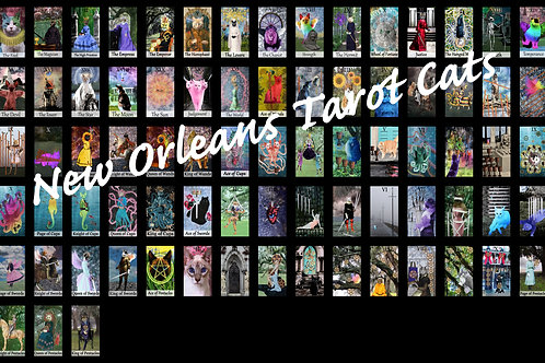 The Deck of the New Orleans Tarot Cats