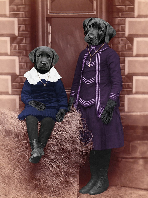 Love My Labrador Puppy from Victorian photograph