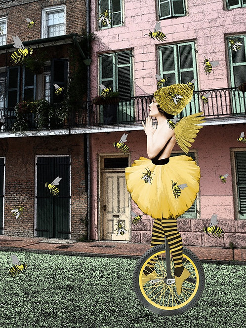 Bee the Unicycle French Quarter Street Performer