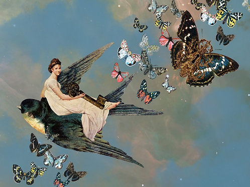 Steampunk Butterfly Goddess and the Flight of the Sparrow