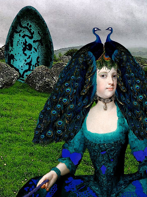 The Peacock Lady meets Rococo Wig Fashion