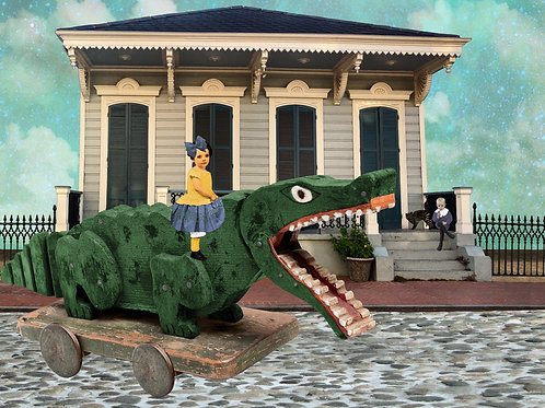 Ride of the French Quarter Alligator