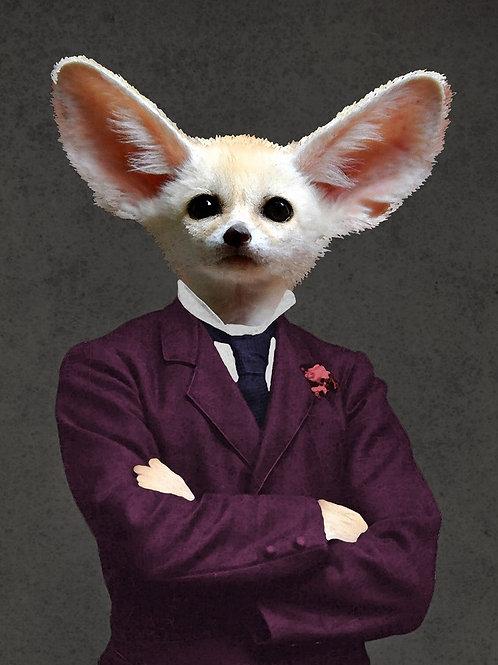 Fennec Fox as Victorian art Photograph