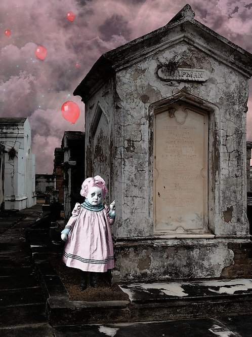 Clown Child in Cemetery - What Scares You