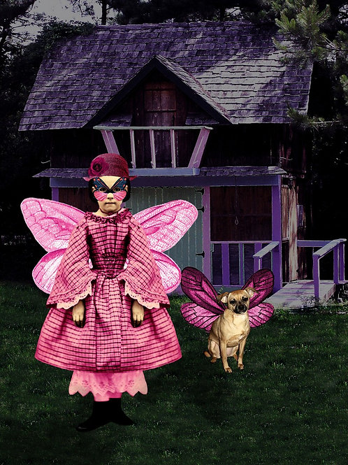 Victorian superhero Butterfly Girl and the Puggle of Justice