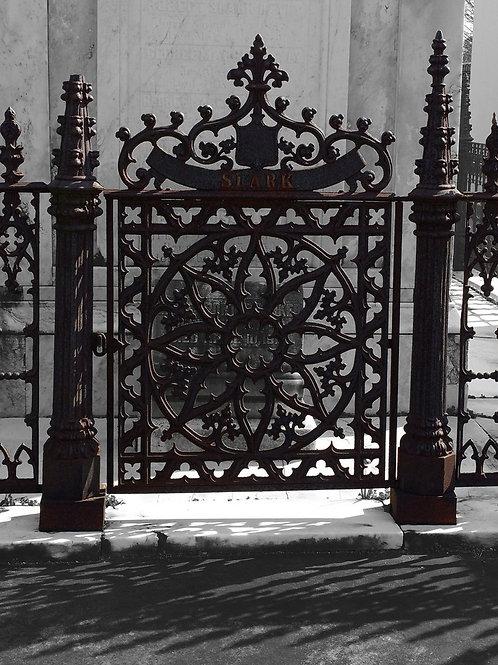 Mandala Rose Gate in New Orleans Cemetery