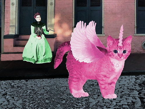 True Love is a Pink Sparkle Unicorn Kitty