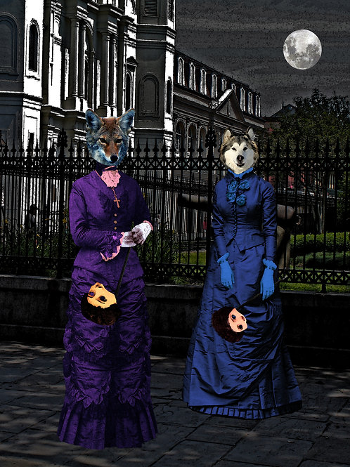 New Orleans Ladies Sashay then as Werewolf They Howl at the Moon