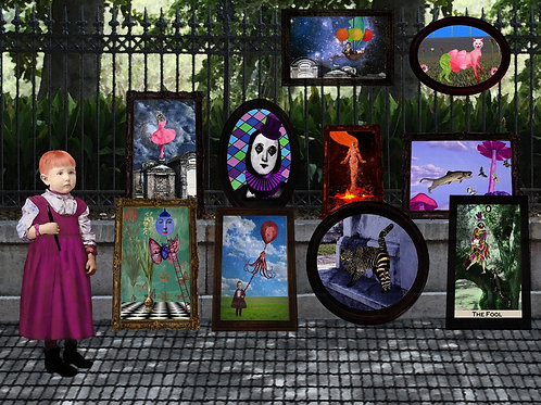 New Orleans Art Girl sells her work in Jackson Square