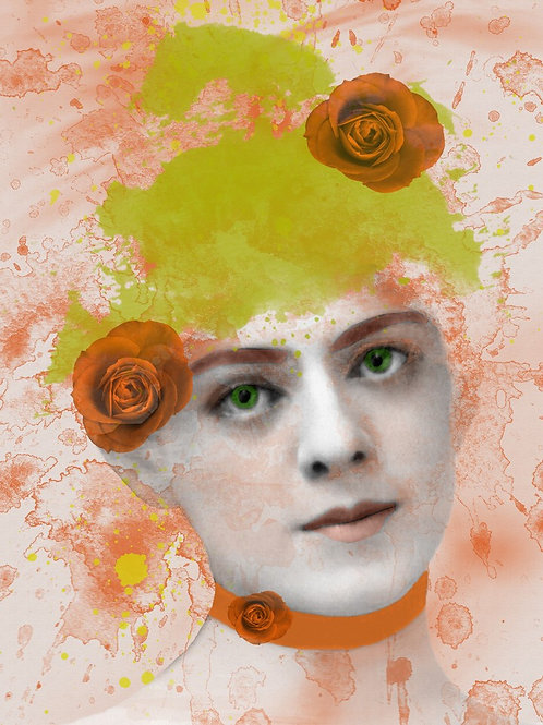 Ethel Barrymore as Citrus Rose Victorian Pin up Girl