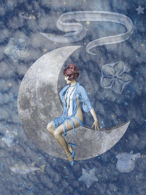 Victorian Paper Moon portrait of a Ziegfeld Follies Dancer