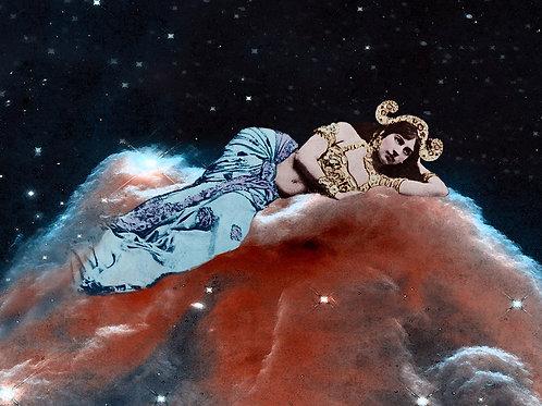 Bellydancing Mata Hari as Space Goddess