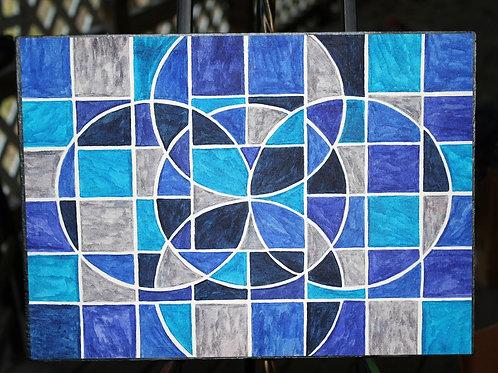 Blue Moon Mandala original