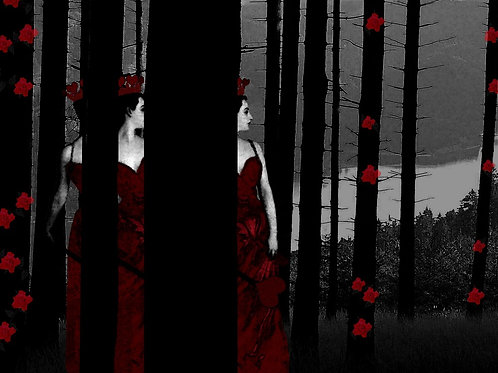 The Red Queen meets Magritte in the Woods