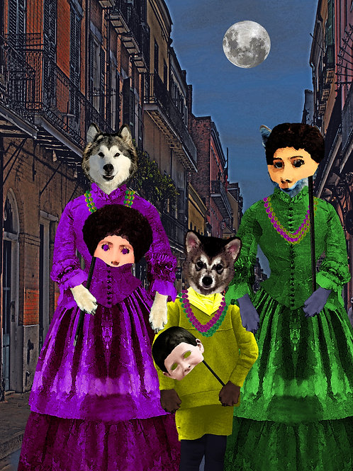 New Orleans Werewolf Mardi Gras aka Full Moon beads and Masks