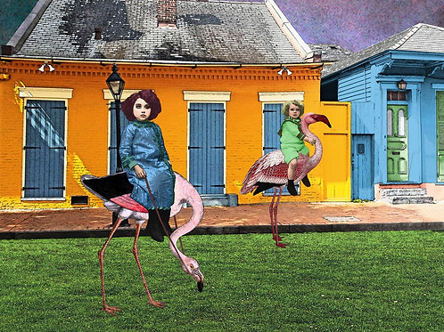 Flamingo Race in a French Quarter Wonderland