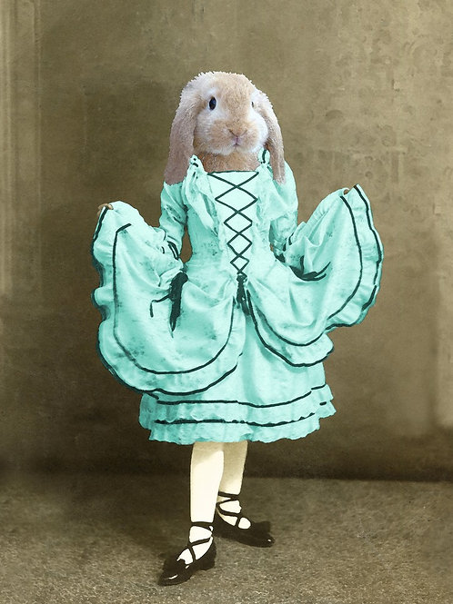 Lop Eared Bunny in Victorian Art Costuming