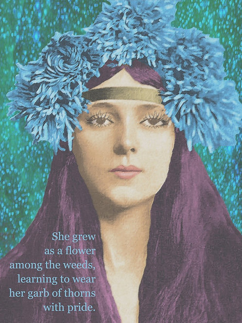 Evelyn Nesbit wears a Garland of Thorns