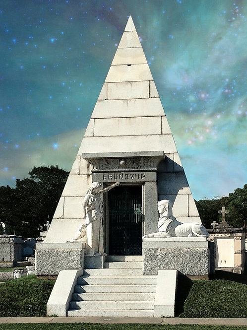 The Pyramid Tomb of New Orleans Metairie Cemetery
