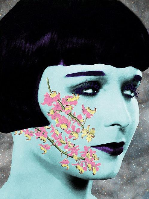 Zombie Louise Brooks flower Tattoo