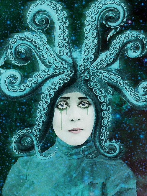 Silent Film Star Theda Bara as Octopus Other
