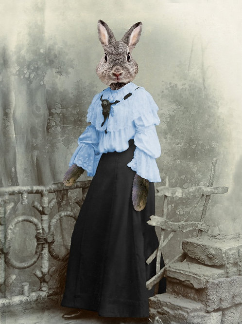 Best Victorian Hair on a pet Hare Portrait