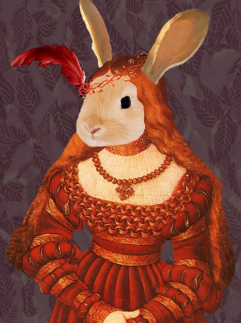 Art portrait of Renaissance Bunny Princess
