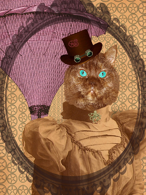 Airship Kitty Cat and her Steampunk Dreams