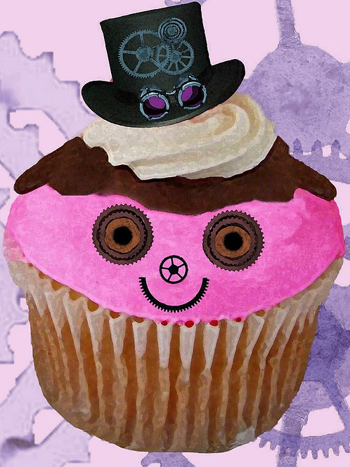 A Steampunk Cupcake in Pink
